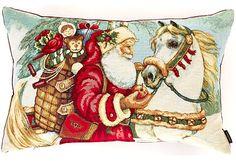 Moltex - Moltex Santa koristetyyny 40x60cm Santa, Painting, Painting Art, Paintings, Painted Canvas, Drawings