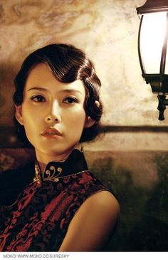 High Fashion appeal/ Chinese elegance paired with finger wave hairstyle which originated in paris