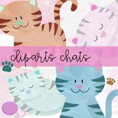 Cliparts chats pour décorer vos feuilles