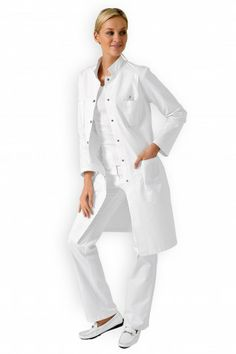 Blouse mi-longue Unisex, Mi Long, Coat, Chef Jackets, Doctors, Clinic, Clothes, Dresses, Photos
