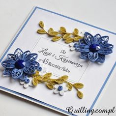 anniversary, quilling, greeting card, handmade, Quilling.com.pl