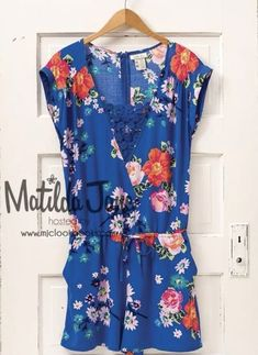 b60d307d217 Matilda Jane Blue Floral Out   About Romper -