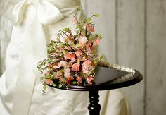 Wedding Flowers - Bridal Bouquet of Pink Flower Beads inspired by Cherry Blossoms - Wedding Bouquet - Fabulous Brooch Bouquet Alternative. $175.00, via Etsy.