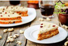 nepečený mrkvový koláč KREŽ Healthy Desserts, Raw Food Recipes, Cake Recipes, Sin Gluten, Lactose Free Diet, Cashew Cream, Raw Vegan, Tofu, Healthy Lifestyle