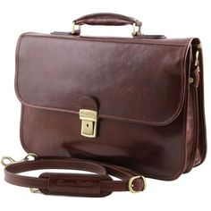 San Gimignano - Tuscany Leather - Leather briefcase 2 compartments - Bags For Business