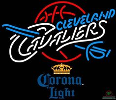 Corona Light Cleveland Cavalier Neon Sign NBA Teams Neon Light