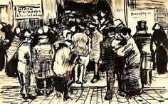 """""""State Lottery Office""""....Vincent van Gogh Letter Sketches, The Hague: 1-Oct, 1882.....Van Gogh Museum Amsterdam, The Netherlands, Europe."""