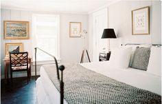 light bedroom, gilded frames