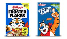 Susan B. Fall I Section 2 Everyone knows this guy.  Tony the Tiger has been Kellogg's Frosted Flakes pitchman since the 1950s.  His looks have changed, but his message is still grrrreat! http://www.womansday.com/food-recipes/a2161/food-brand-mascot-makeovers-113852/v Company Logos - Food Advertising Characters at WomansDay.com