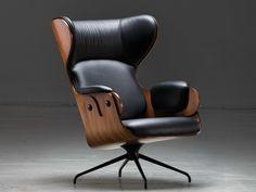 LOUNGER Sessel aus Leder by BD Barcelona Design Design Jaime Hayón