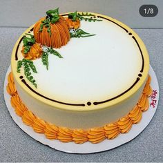 Savory magic cake with roasted peppers and tandoori - Clean Eating Snacks Fall Theme Cakes, Fall Birthday Cakes, Fall Cakes, Themed Cakes, Cake Decorating Techniques, Cake Decorating Tips, Sheet Cake Designs, Buttercream Cake Designs, Bolo Floral