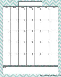 Freebie: Monthly Calendar Printable