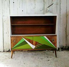 Mid Century Bookshelf, Dresser, Mini Sideboard, Vintage Console, Midcentury Sideboard and bookshelf