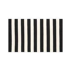 Olin Black Striped Cotton Dhurrie 30