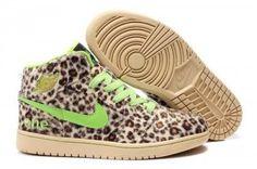 goedkoop Heren Nike Air Jordan 1 ( i ) pluis luipaard groen schoenen online sale
