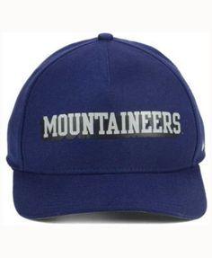 Nike West Virginia Mountaineers Local Dna Verbiage Swoosh Flex Cap - Blue OSFM