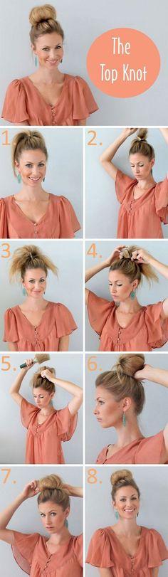 Easy Bun Hairstyles for Long Hair and Medium Hair56