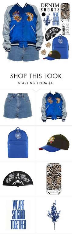 """Dangerous as tiger"" by marymarales ❤ liked on Polyvore featuring Topshop, Kenzo, Casetify, bomberjacket and yurionice"