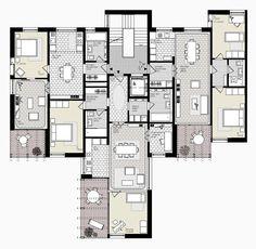 """housing Obsthalden """"towerhouse"""" - Zürich  - Switzerland - 2015 - Atelier Abraha Achermann"""
