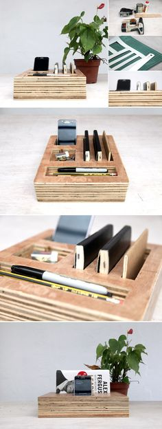 DIY Organization Bloks Made Out of Plywood: Bedroom and Desk Editions