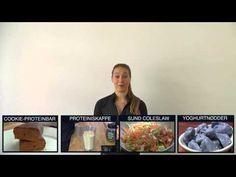 Celestine intrducerer fire nye fitnessopskrifter med proteinpulver fra http://www.bodylab.dk. Opskrifterne er hjemmelavede proteinbarer med crispy cookie, yoghurtovertrukne cashewnødder med blåbærsmag, sund coleslaw med højt omega 3 indhold og proteiniskaffe med karamelsmag.