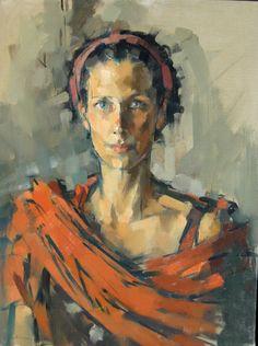 Ebba, 2000, 18 x 24 ins, oil on linen. Maggie Siner