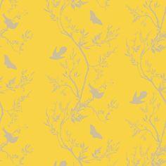 Timorous Beasties Birdbranch Stripe Hand Printed Wallpaper | Houseology