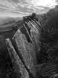 Slate Fence near Ffestiniog - Iain Robinson