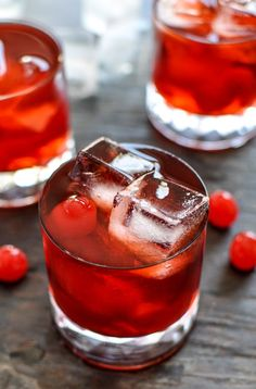 Pin now and save for later! Cherry Whiskey Smash Cocktails are the perfect cocktail for entertaining over the holiday season.