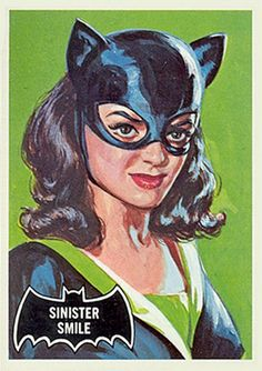 Now THIS is the Catwoman! As painted by pulp artist Norman Saunders for the 1966 Batman trading card set. Batman 1966, I Am Batman, Batman Robin, Batman Stuff, Dc Comic Books, Comic Art, Dc Comics, Cat Women, Black Bat