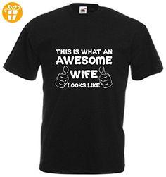 Awesome Wife T-Shirt Valentine Geschenk Weihnachtsgeschenk coolen Geburtstag Funny Jahrestag Gr. Medium, Schwarz - Schwarz (*Partner-Link)