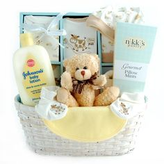Welcome Baby Gift Basket - Neutral