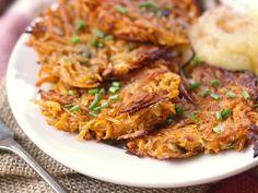 Sweet Potato Latkes with Spiked Apple Sauce