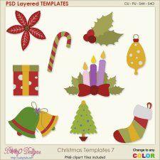 Christmas Layered Templates 7 #CUdigitals cudigitals.comcu commercialdigitalscrapscrapbookgraphics #digiscrap