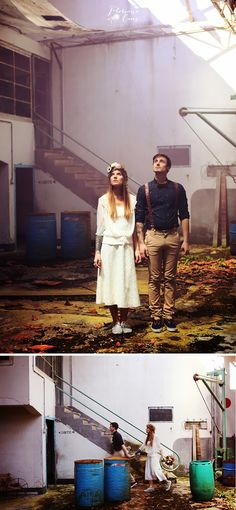 Floriane Caux Photographe de Mariage - Toulouse, France, Worldwide: Shooting inspiration mariage - steampunk / bohème / urbex