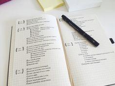 Mesmo com uma cor de caneta só este planejamento de estudos tem todo um charme.