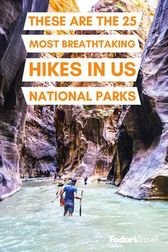 From hikes across ancient glaciers to lush rainforest treks, these are the 25 most beautiful U.S. national park hikes. #NationalParks #parks #USA #hikes #hiking #nature #outdoors #beautiful #majestic #adventure #traveltips #bucketlist #wanderlust