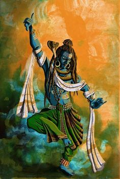 Shiva has many dances. His dance of anger is called the Roudra Tandava, and his dance of joy, the Ananda Tandava. He dances the dance of creation, the dance of destruction, and the dance of solace and liberation.