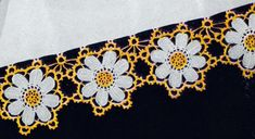 Yellow and White Flower Pillow Cases crochet pattern from Crochet Suggestions for Fairs and Bazaars, originally published by American Thread Co, Star Book No. 121.