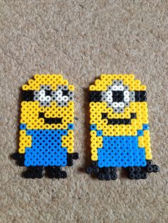 Minions perler beads by Kim Hutton despicable me minions change to cross stitch