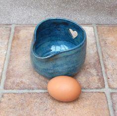 Egg Separator Jug Wheel Thrown Stoneware Pottery by Caractacus Pots on Gourmly