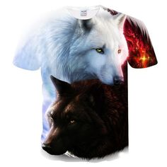 Newest Harajuku Wolf 3D Print Cool T-shirt Men/Women