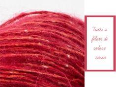 Ti piacciono i filati di colore rosso? Ecco una selezioni di filati nel colore rosso che puoi trovare nel nostro shop. Sai quali sono le caratteristiche del colore rosso? Ilrossoè uno deicoloridello spettro percepibile dall'occhio umano, classificato comecolorecaldo. Ha la frequenza minore e, conseguentemente, la lunghezza d'onda più lunga rispetto a tutti gli altricolorivisibili (traread more More, Ideas, Wave, Thoughts