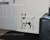 English bull terrier wall art sticker