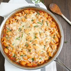Chicken Parmesan Baked Pasta - use whole wheat pasta instead and it's a clean recipe! :)