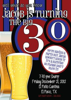 60th Birthday Surprise Party InvitationsBeer Men by TheFunkyOlive, $18.00