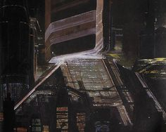 Syd Mead Bladerunner - The brooding skyscrapers of future Los Angeles.