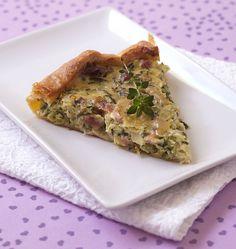 Tarte à la courgette et aux lardons - les meilleures recettes de cuisine d'Ôdélices