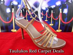 Womens shoes ALDO Metallic Bronze Leather High Heel Stiletto Sandals ITALY 8.5 M #ALDO #Slingbacks