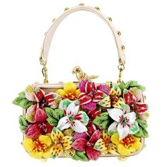 52bff68475 MARY FRANCES Rare Bird Embellished Floral Top Handle Bag   maryfranceshandbags Mary Frances Purses